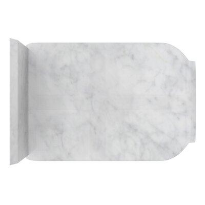 Antique Marble 13 Single Bathroom Vanity Top Top Finish: Bianca Carara