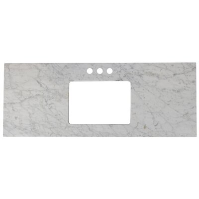 Elite Marble 48 Single Bathroom Vanity Top Top Finish: Bianca Carara, Faucet Mount: 4 Centers