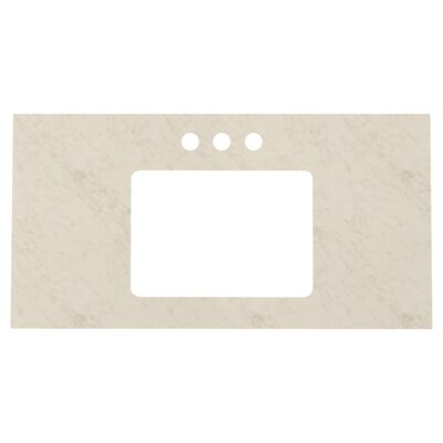 Elite Marble 36 Single Bathroom Vanity Top Top Finish: Beige, Faucet Mount: 4 Centers