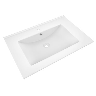 Flair Ceramic 23.75 Single Bathroom Vanity Top