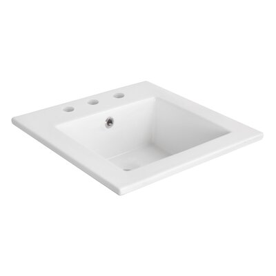 Ceramic 17 Single Bathroom Vanity Top Faucet Mount: 8 Centers