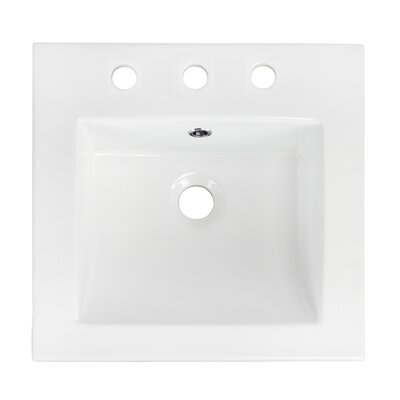 Ceramic 21 Single Bathroom Vanity Top Faucet Mount: 8 Centers