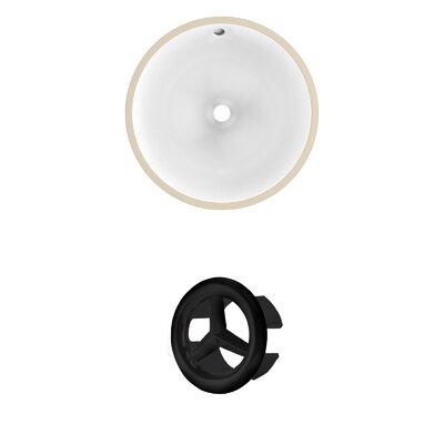 Circular Undermount Bathroom Sink with Overflow Drain Finish: Black