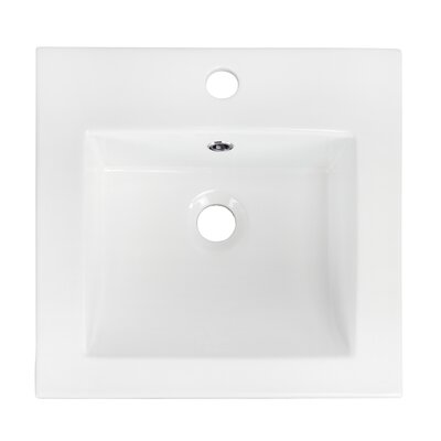 Ceramic 21 Single Bathroom Vanity Top Faucet Mount: Single