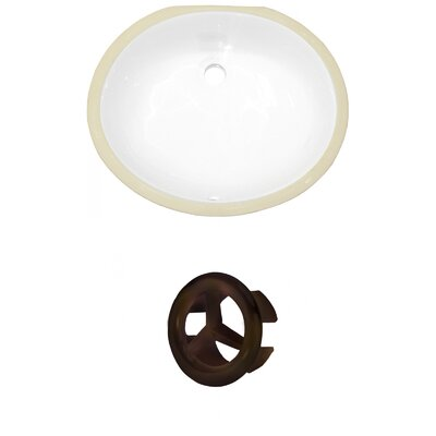Oval Undermount Bathroom Sink with Overflow Drain Finish: Oil Rubbed Bronze