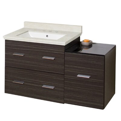 Phoebe Drilling Wall Mount 38 Kiln Dried Ceramic Top Single Bathroom Vanity Set with Handles Base Finish: Dawn Gray, Top Finish: Beige, Sink Finish: White