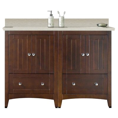Artic Modern 59 Rectangle Single Bathroom Vanity Set Sink Finish: Biscuit, Faucet Mount: 4 Centers