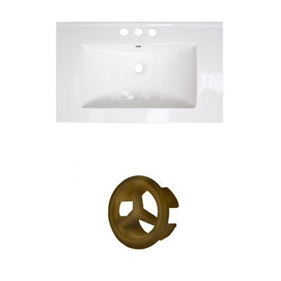 Roxy Ceramic 32 Single Bathroom Vanity Top Faucet Mount: 4 Centers