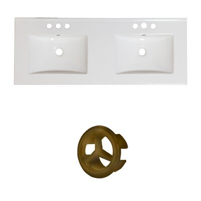 Xena Ceramic 59 Single Bathroom Vanity Top Faucet Mount: 8 Centers