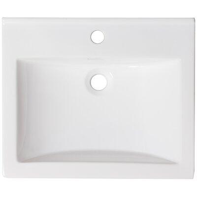 Ceramic 22 Single Bathroom Vanity Top Faucet Mount: Single Hole