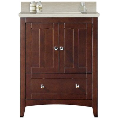 Artic Modern 31 Single Bathroom Vanity Set Sink Finish: White, Base Finish: Walnut, Faucet Mount: 8 Centers