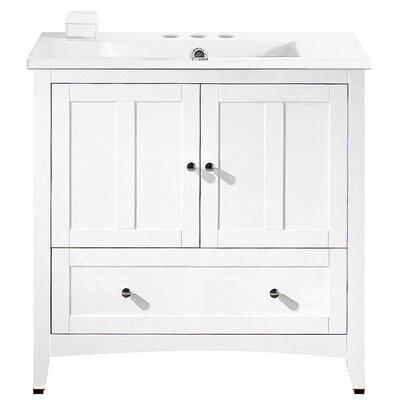 Artic Modern 36 Plywood-veneer Single Bathroom Vanity Set Faucet Mount: 4 Centers