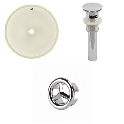 Circular Undermount Bathroom Sink with Overflow Drain Finish: Chrome