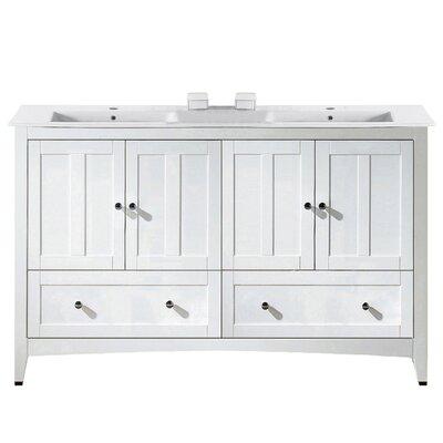 Artic Modern 59 Single Bathroom Vanity Set Base Finish: White, Faucet Mount: Single Hole