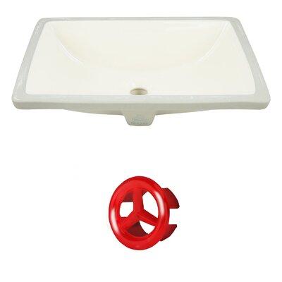 Ceramic Rectangular Undermount Bathroom Sink with Overflow Drain Finish: Red
