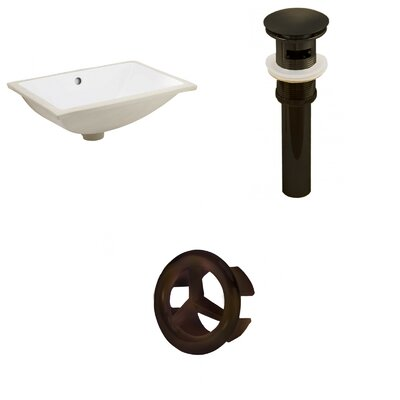 Rectangular Undermount Bathroom Sink with Overflow Drain Finish: Oil Rubbed Bronze