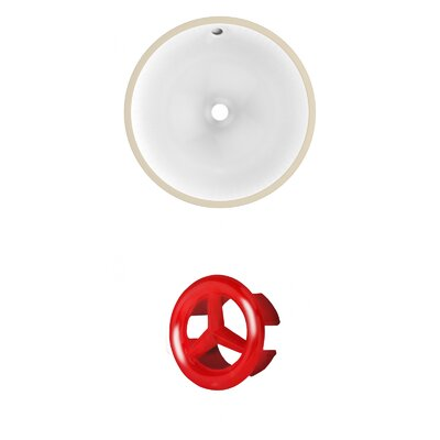 Circular Undermount Bathroom Sink with Overflow Drain Finish: Red