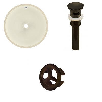 Circular Undermount Bathroom Sink with Overflow Drain Finish: Oil Rubbed Bronze