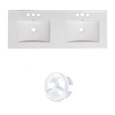 Xena Ceramic 59 Single Bathroom Vanity Top Faucet Mount: 8 Centers