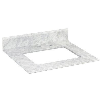 Juliet Marble 24 Single Bathroom Vanity Top Top Finish: Bianca Carara