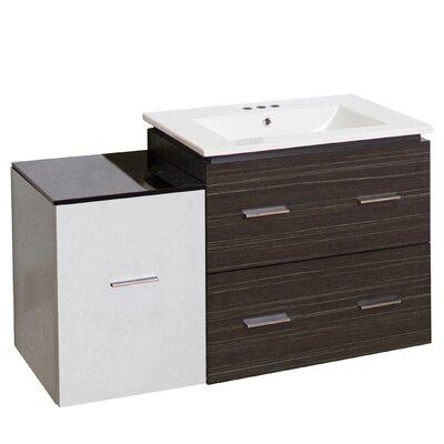 Kyra Modern 38 Single Bathroom Vanity Faucet Mount: 4 Centers