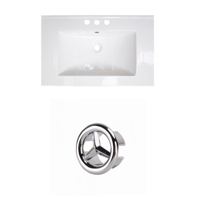 Roxy Ceramic 24.25 Single Bathroom Vanity Top Faucet Mount: 4 Centers