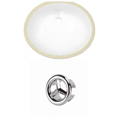 Oval Undermount Bathroom Sink with Overflow Drain Finish: Chrome