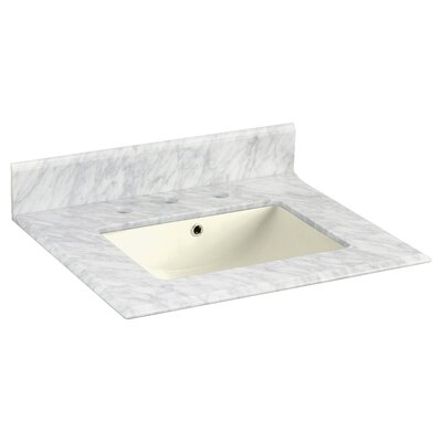 Juliet Marble 24 Single Bathroom Vanity Top Top Finish: Bianca Carara