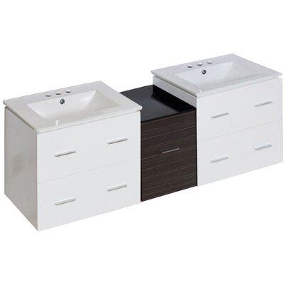 Kyra 62 Double Bathroom Vanity Faucet Mount: 4 Centers