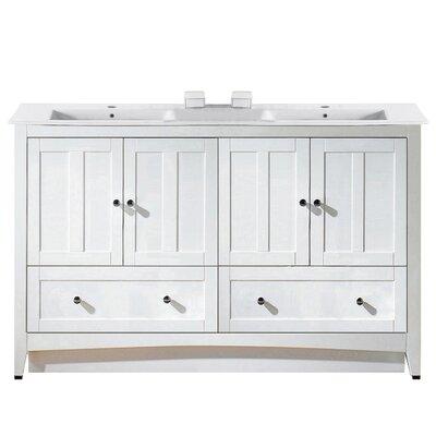 Artic 59 Single Bathroom Vanity Set Base Finish: White, Faucet Mount: Single Hole