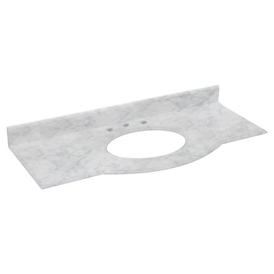 Villa Marble 50 Single Bathroom Vanity Top Top Finish: Bianca Carara
