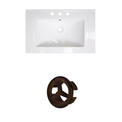 Roxy Ceramic 24 Single Bathroom Vanity Top Faucet Mount: 8 Centers