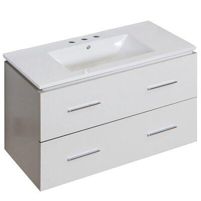 Kyra Modern 36 Single Bathroom Vanity Faucet Mount: 8 Centers