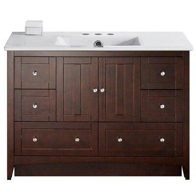 Artic Modern 48 Single Bathroom Vanity Set Faucet Mount: 4 Centers