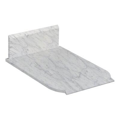 Marble 13 Single Bathroom Vanity Top Top Finish: Bianca Carara
