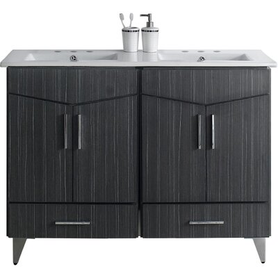 Keels 24 Rectangle Bathroom Vanity Set Faucet Mount: 4 Centers