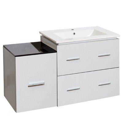 Kyra 38 Plywood Single Bathroom Vanity Faucet Mount: Single Hole