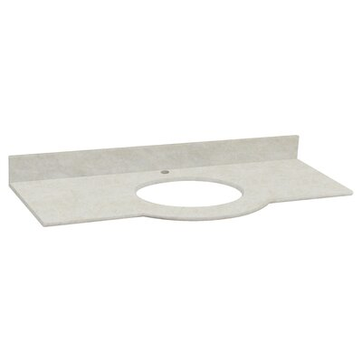 Tiffany Marble 50 Single Bathroom Vanity Top Top Finish: Beige, Faucet Mount: Single Hole