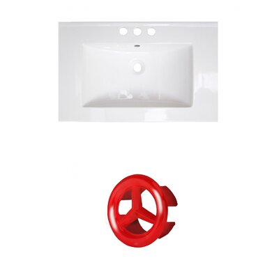 Roxy Ceramic 24 Single Bathroom Vanity Top Faucet Mount: 4 Centers