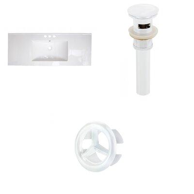 Flair Ceramic 49 Single Bathroom Vanity Top Faucet Mount: 4 Centers