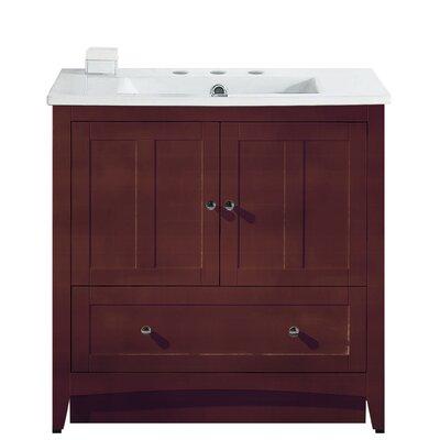 Artic Modern 36 Single Bathroom Vanity Set Faucet Mount: 8 Centers