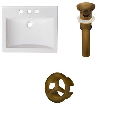 Omni Ceramic 21 Single Bathroom Vanity Top Faucet Mount: 4 Centers