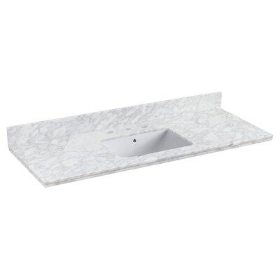Shaker Quartz 48 Single Bathroom Vanity Top Faucet Mount: 8 Centers