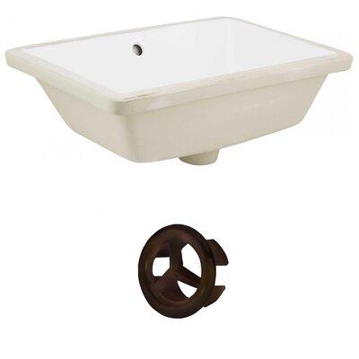 Ceramic Rectangular Undermount Bathroom Sink with Overflow Drain Finish: Oil Rubbed Bronze