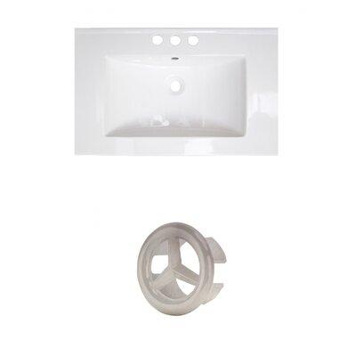 Roxy Ceramic 24 Single Bathroom Vanity Top Faucet Mount: 4 Centers