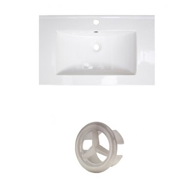 Roxy Ceramic 32 Single Bathroom Vanity Top Faucet Mount: Single Hole