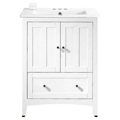 Artic 30 Single Bathroom Vanity Set Base Finish: White, Faucet Mount: 4 Centers