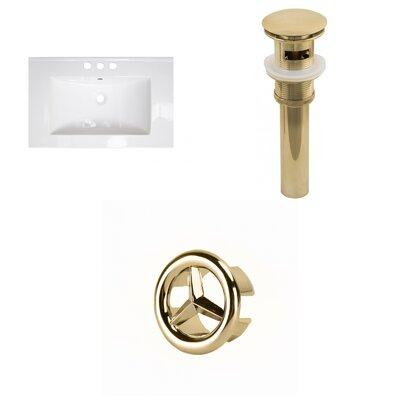 Flair Ceramic 25 Single Bathroom Vanity Top Faucet Mount: 4 Centers