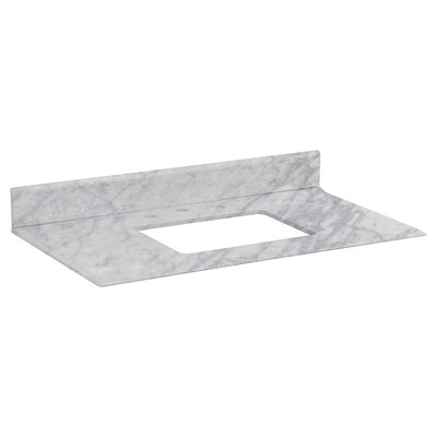 Juliet Marble 36 Single Bathroom Vanity Top Top Finish: Bianca Carara