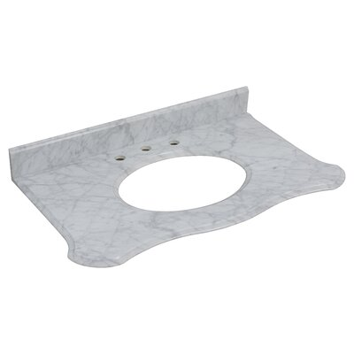 Marble 37 Single Bathroom Vanity Top